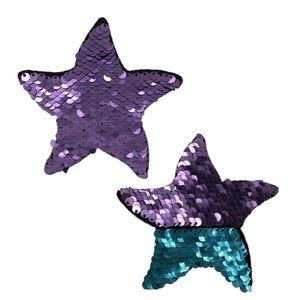 Pastease Purple Turquoise Sequin Starfish Pasties